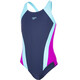 speedo Contrast Panel Splashback Swimsuit Children pink/blue